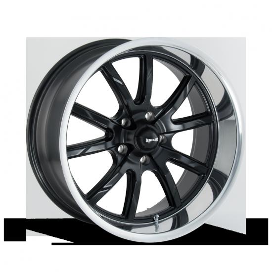 Ridler 650 Mag noir mat avec lèvre poli Mustang 2005-2017 GT V6 EcoBoost