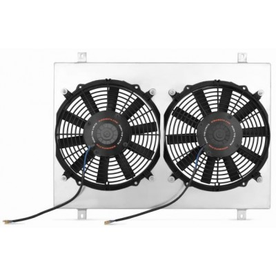 Mishimoto Performance 2300cfm Dual Electric Fan & Aluminum Shroud Kit 1979-1993 Mustang 5L