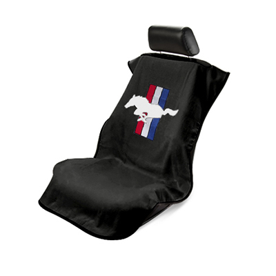 Seat Armour Couvre siège noir logo cheval tri-bar Mustang 1964-2020