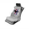 Seat Armour Seat protector grey with tri-bar logo Mustang 1964-2016