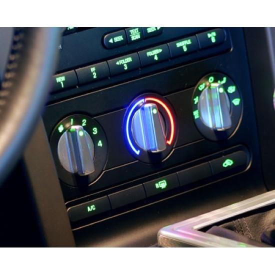 SHR Controle Chauffage/Air Climatisé Chromé 3pcs 2007-2009 Mustang