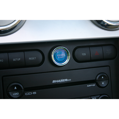 SHR Blue illuminated Engine Start Button 2005-2009 Mustang GT/V6/GT500