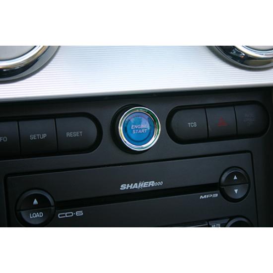 SHR Bouton Démarrage illuminé Bleu 2005-2009 Mustang GT/V6/GT500