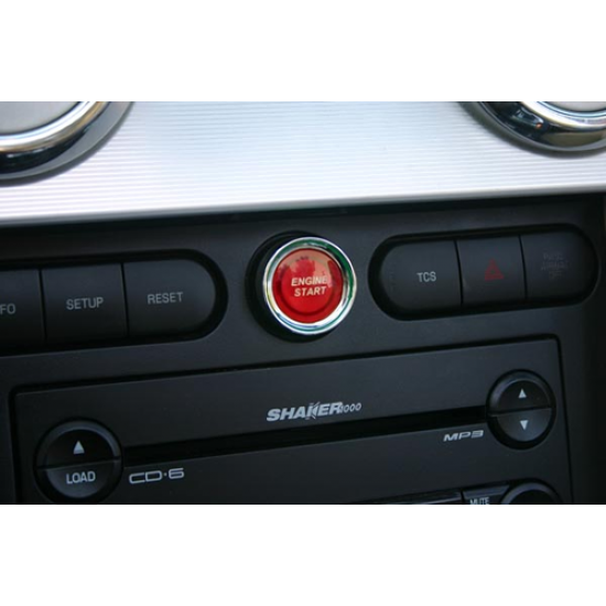 SHR Red iIluminated Engine Start Button 2005-2009 Mustang GT/V6/GT500