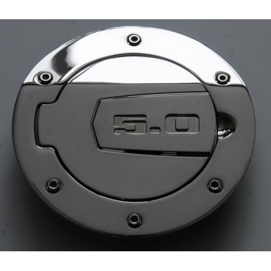 SHR Porte d'essence chromé avec logo 5.0 Mustang 2010-2014