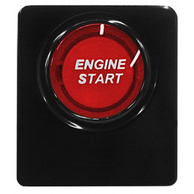 SHR Red illuminated engine start button Mustang 2010-2014
