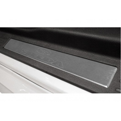 Steeda Aluminium brushed door sill plates Mustang 2005-2009