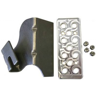 Steeda Aluminum dead pedal and bracket kit Mustang 2005-2014