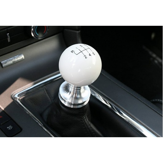 steeda white ball shifter knobs and billet collar mustang. Black Bedroom Furniture Sets. Home Design Ideas