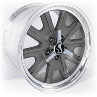 Replica Wheels 340 Cobra 18x8.5 charcoal Mustang 2005-2014