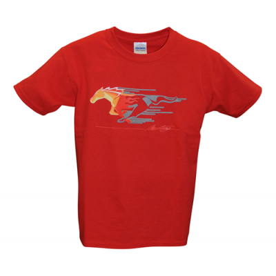 T-Shirt Mustang enfant rouge