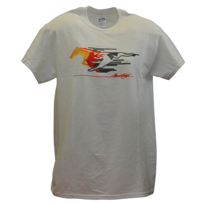 Mustang T-Shirt homme blanc