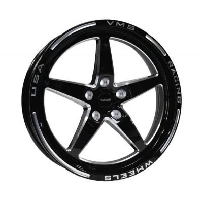 VMS Racing Mag de Drag arriere17x10+54mm Noir/Machiné 2005-2019 Mustang GT/V6/EcoBoost/GT500