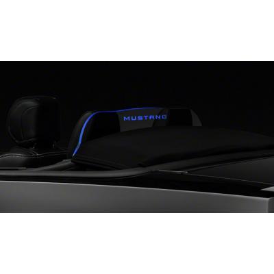 WindRestrictor logo Mustang avec illumination bleu Mustang 2011-2014