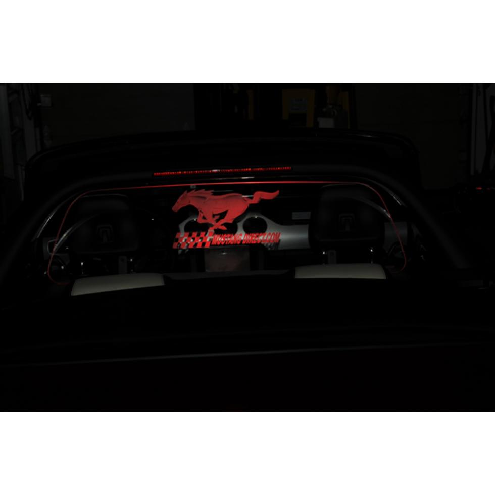 Windrestrictor Laser Engraved Horse Logo Red Illuminated